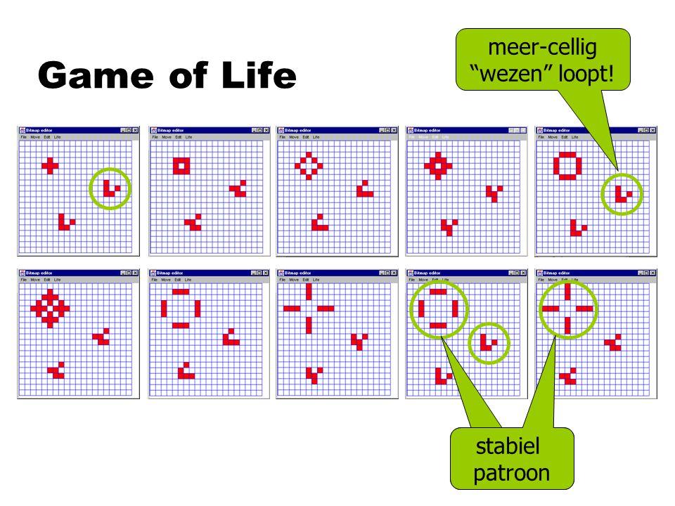 "Game of Life meer-cellig ""wezen"" loopt! stabiel patroon"