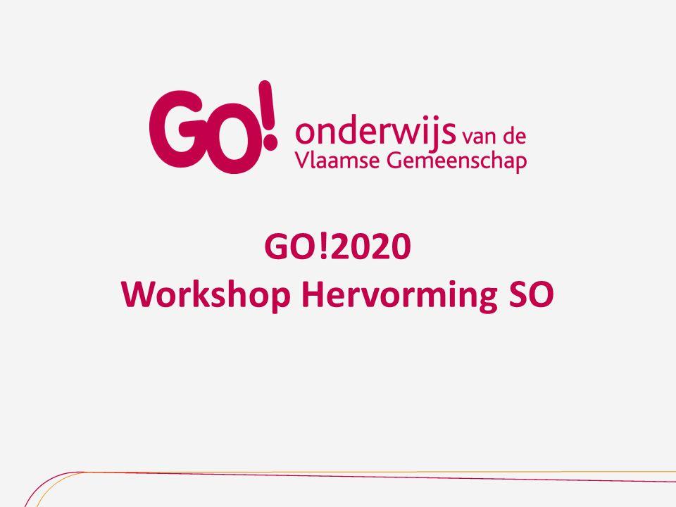 GO!2020 Workshop Hervorming SO