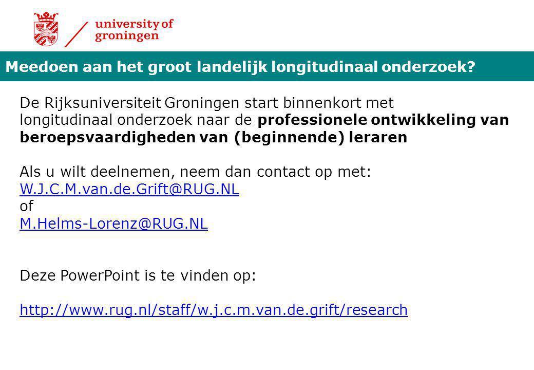 Meedoen aan het groot landelijk longitudinaal onderzoek? De Rijksuniversiteit Groningen start binnenkort met longitudinaal onderzoek naar de professio
