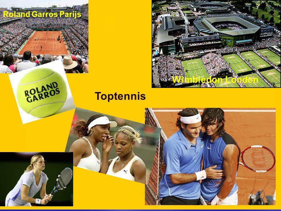 Toptennis Wimbledon Londen Roland Garros Parijs