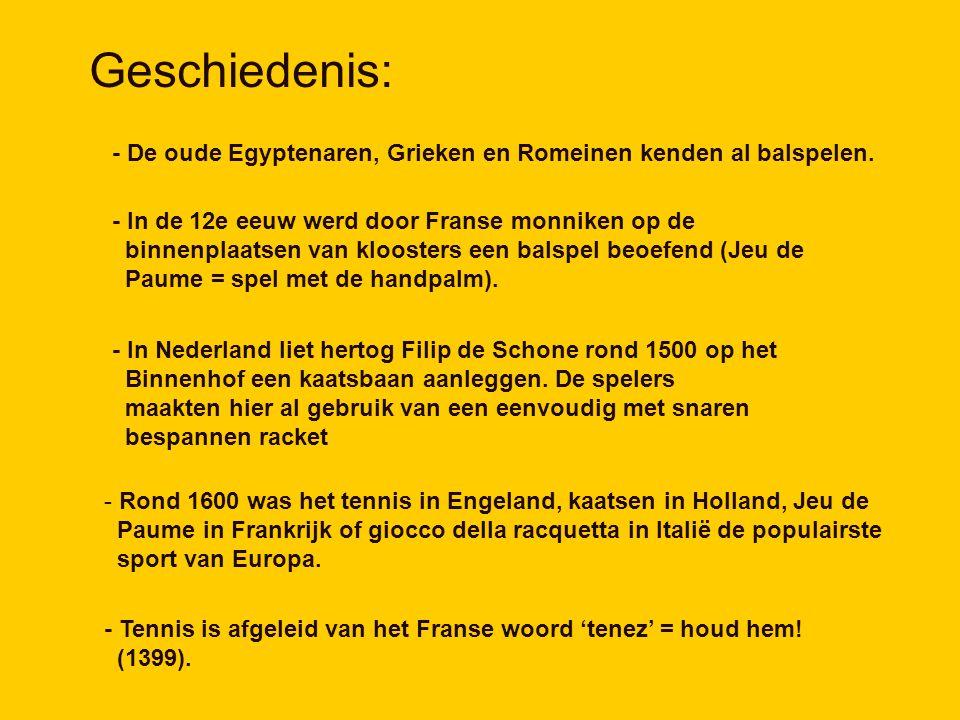 Geschiedenis: - De oude Egyptenaren, Grieken en Romeinen kenden al balspelen.