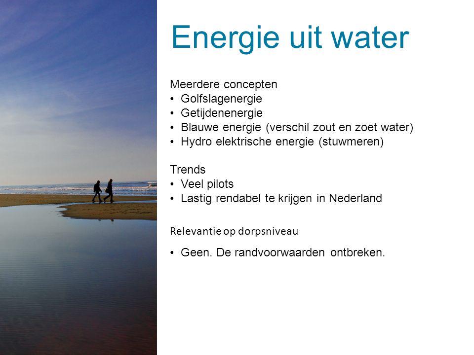 Energie uit water | 1 maart 2014 | © ARCADIS 2014Dia 15 Meerdere concepten Golfslagenergie Getijdenenergie Blauwe energie (verschil zout en zoet water