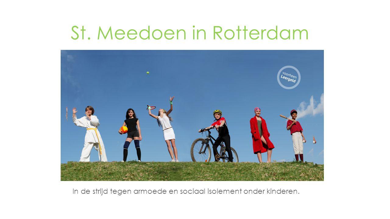 In de strijd tegen armoede en sociaal isolement onder kinderen. St. Meedoen in Rotterdam