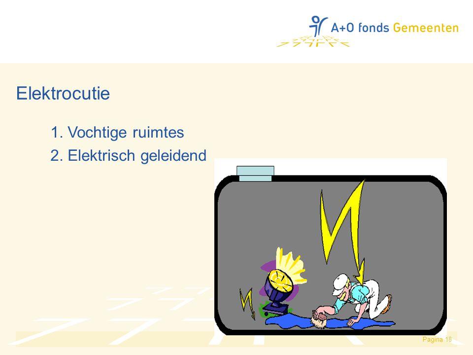 Pagina 18 Elektrocutie 1. Vochtige ruimtes 2. Elektrisch geleidend