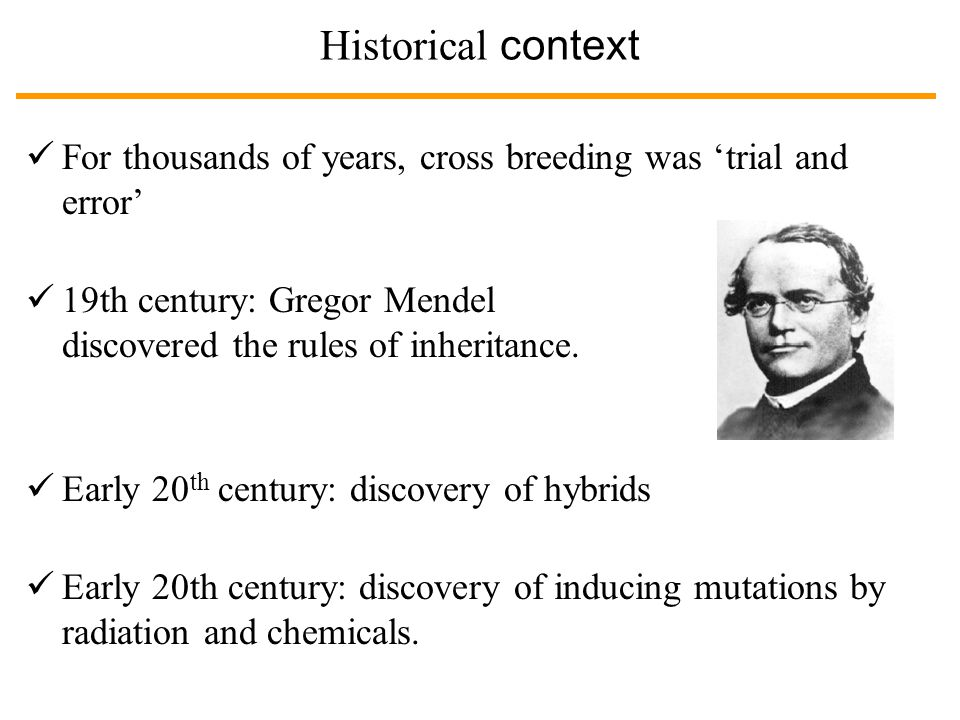 Historical context While cross breeding and induced mutation are important tools of plant breeding, they also have limitations: 1.Cross breeding only works between related plants.