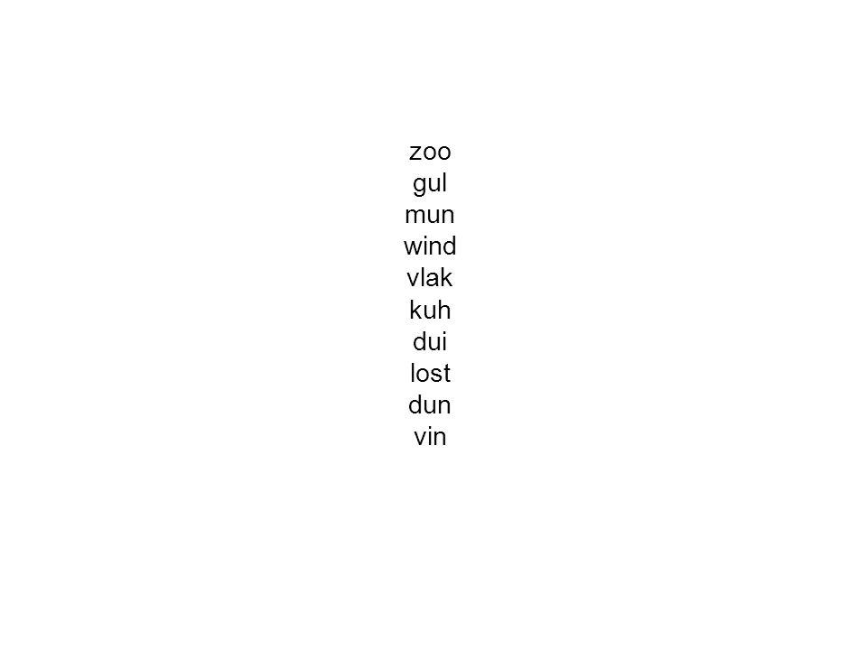 zoo gul mun wind vlak kuh dui lost dun vin