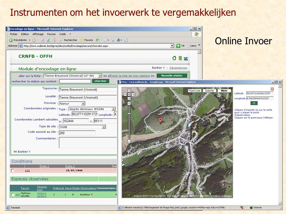 Online Invoer Instrumenten om het invoerwerk te vergemakkelijken