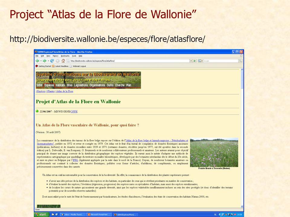 "Project ""Atlas de la Flore de Wallonie"" http://biodiversite.wallonie.be/especes/flore/atlasflore/"