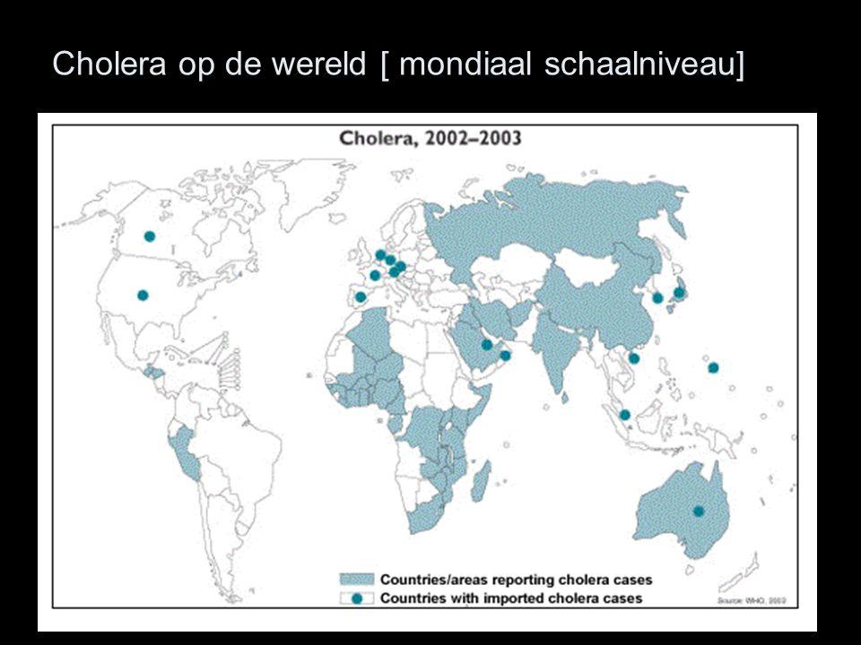 Cholera op de wereld [ mondiaal schaalniveau]