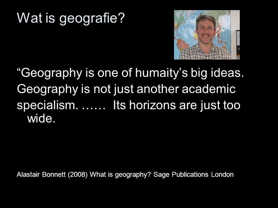 Wat is geografie.
