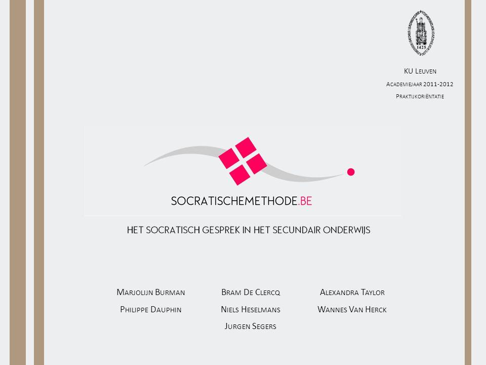Inhoud Onderzoeksopzet Socrates Socratische methodeConclusie