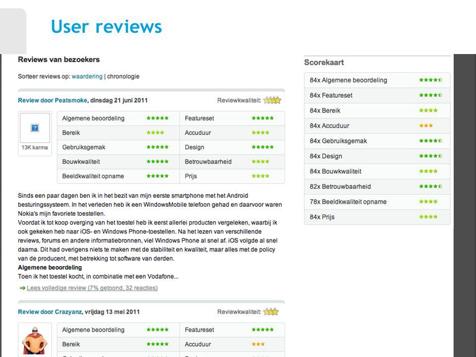 User reviews 11