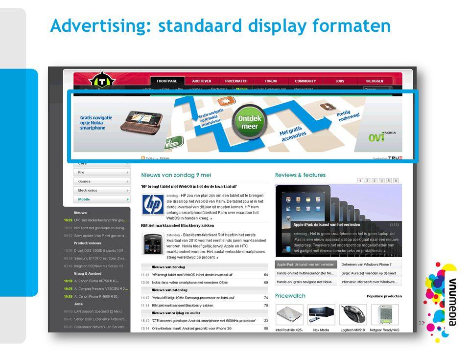 Advertising: standaard display formaten 22