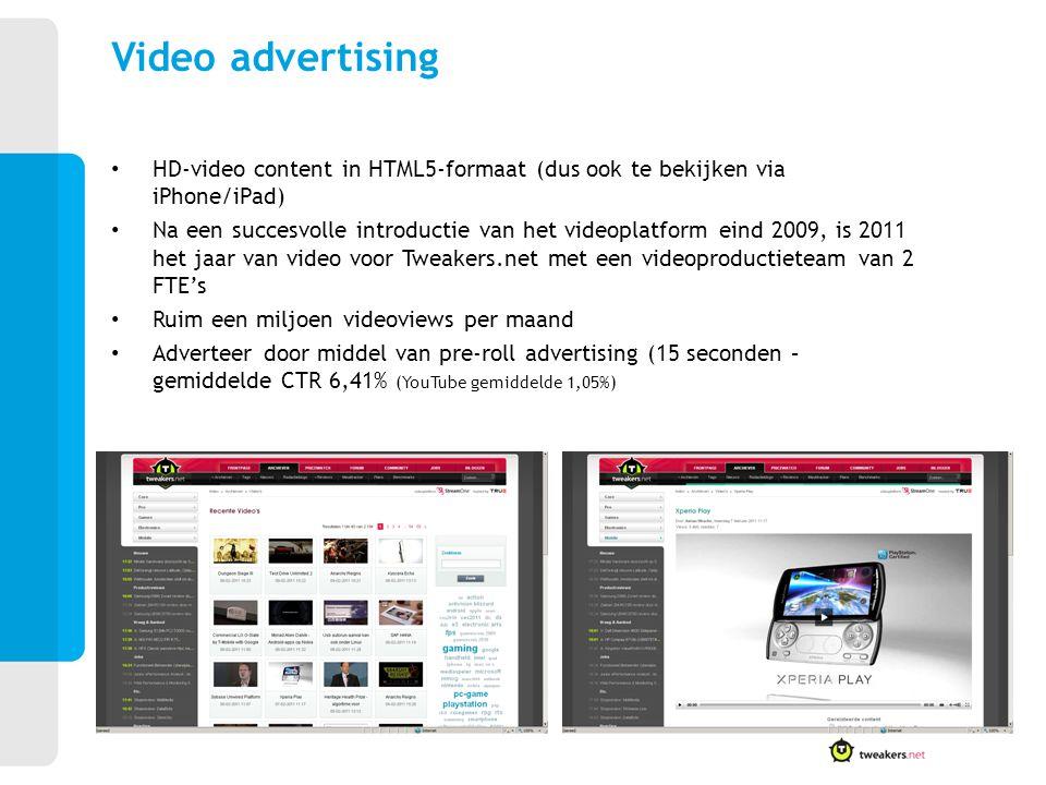 HD-video content in HTML5-formaat (dus ook te bekijken via iPhone/iPad) Na een succesvolle introductie van het videoplatform eind 2009, is 2011 het ja