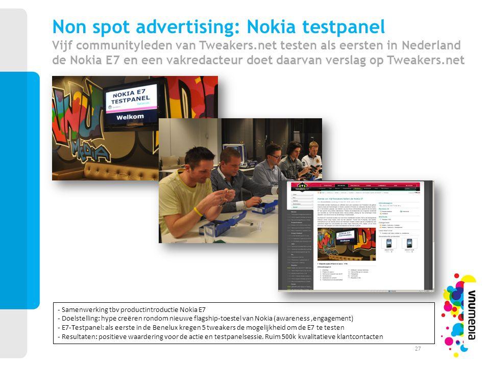 Non spot advertising: Nokia testpanel Vijf communityleden van Tweakers.net testen als eersten in Nederland de Nokia E7 en een vakredacteur doet daarva