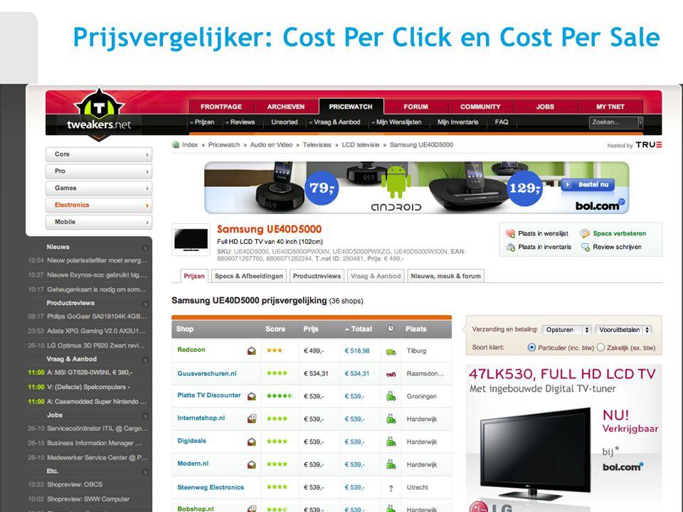 Prijsvergelijker: Cost Per Click en Cost Per Sale 28