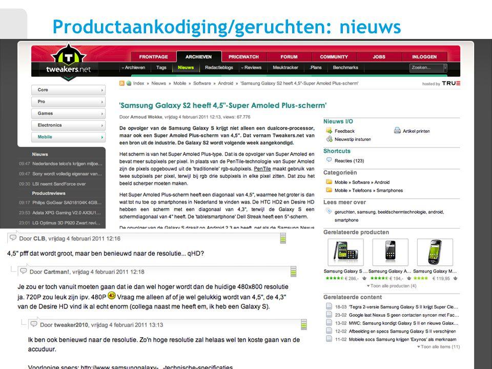Productaankodiging/geruchten: nieuws 6