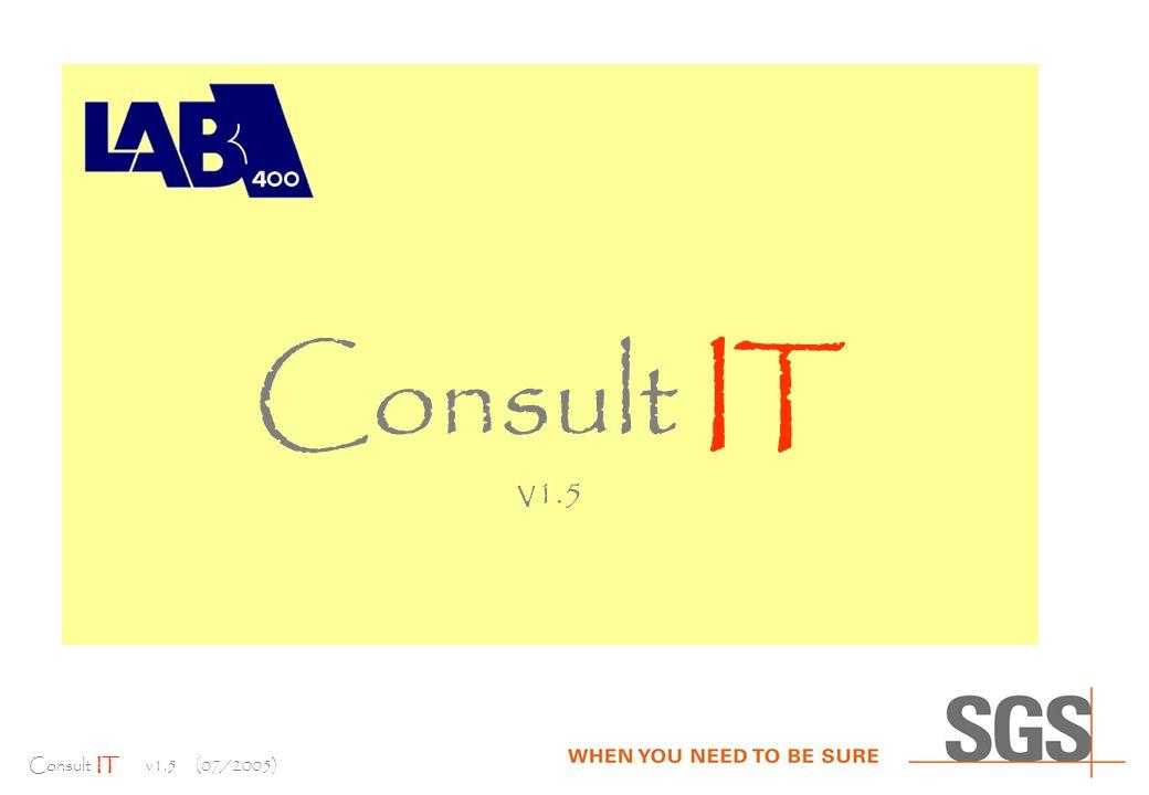 Consult IT v1.5 (07/2005) Consult IT V 1.5