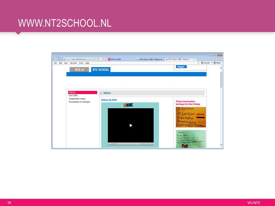 16 VU-NT2 WWW.NT2SCHOOL.NL