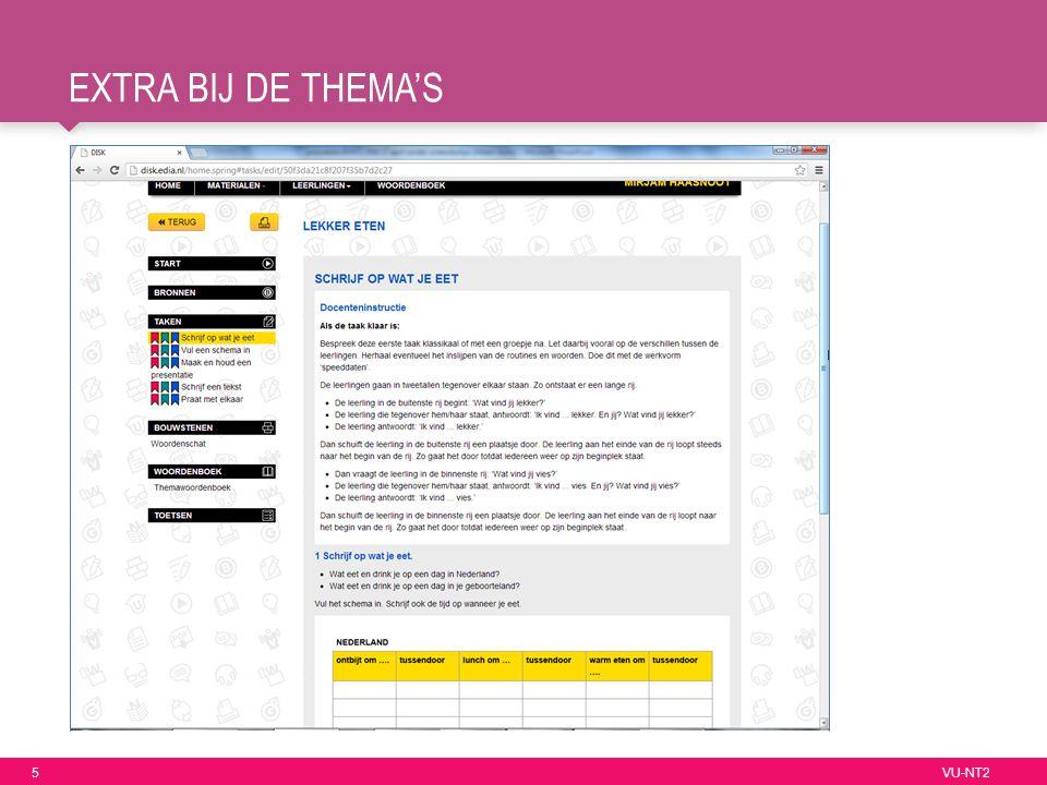 5 VU-NT2 EXTRA BIJ DE THEMA'S