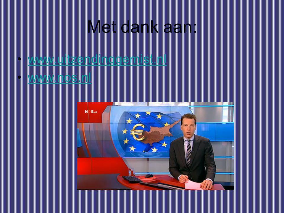 Met dank aan: www.uitzendinggemist.nl www.nos.nl
