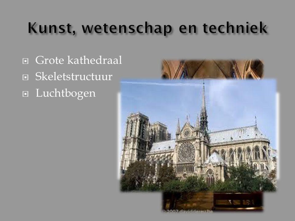  Grote kathedraal  Skeletstructuur  Luchtbogen