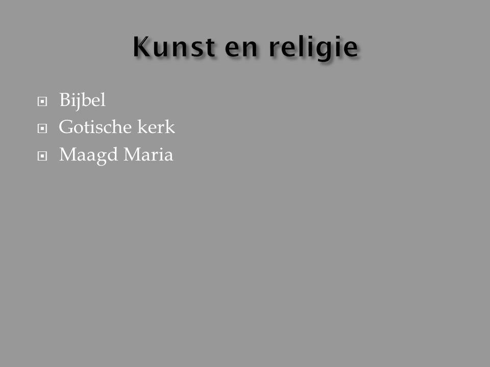  Bijbel  Gotische kerk  Maagd Maria
