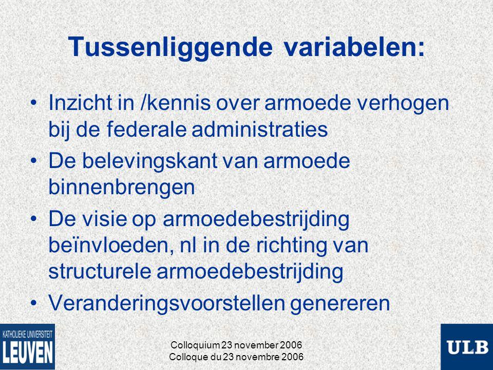 Ontwikkeling van een « professionele niche »: Gebaseerd op een relatie tussen: Colloquium 23 november 2006 Colloque du 23 novembre 2006 De sociale determinanten van de carrière van de ervaringsdesk undige De opportuniteite nstructuur