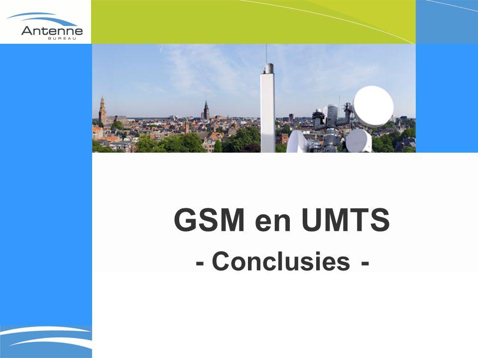 GSM en UMTS - Conclusies -
