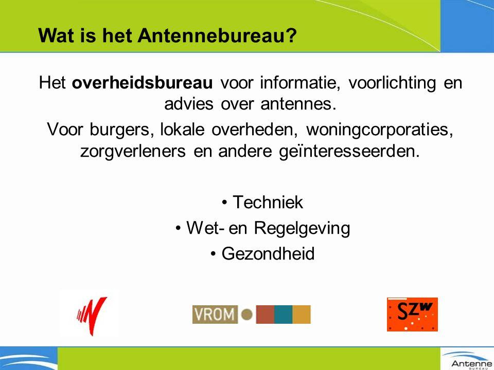 Het overheidsbureau voor informatie, voorlichting en advies over antennes.