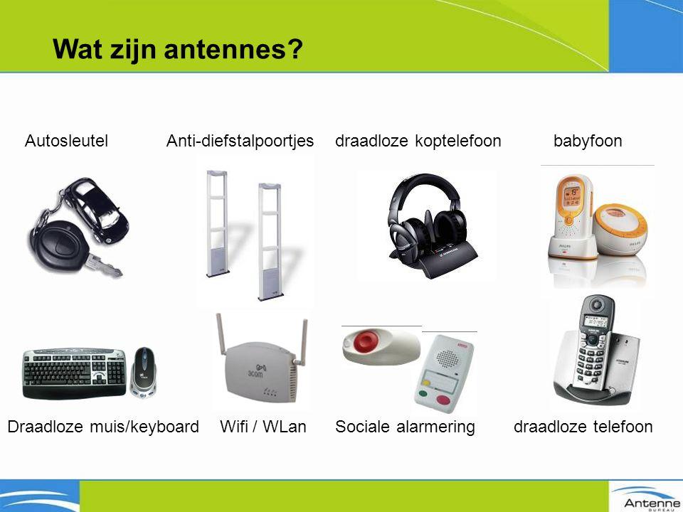 Blootstellinglimieten GSM 900~ 41 V/m GSM 1800~ 58 V/m UMTS~ 61 V/m Praktijksituaties 0,55 0,45 0,38