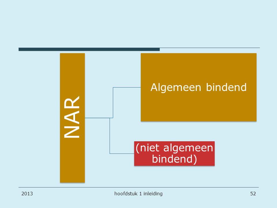 NAR Algemeen bindend (niet algemeen bindend) 2013hoofdstuk 1 inleiding52