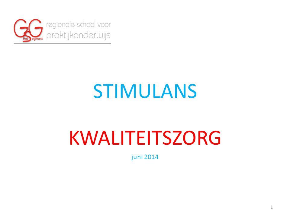 STIMULANS KWALITEITSZORG juni 2014 1