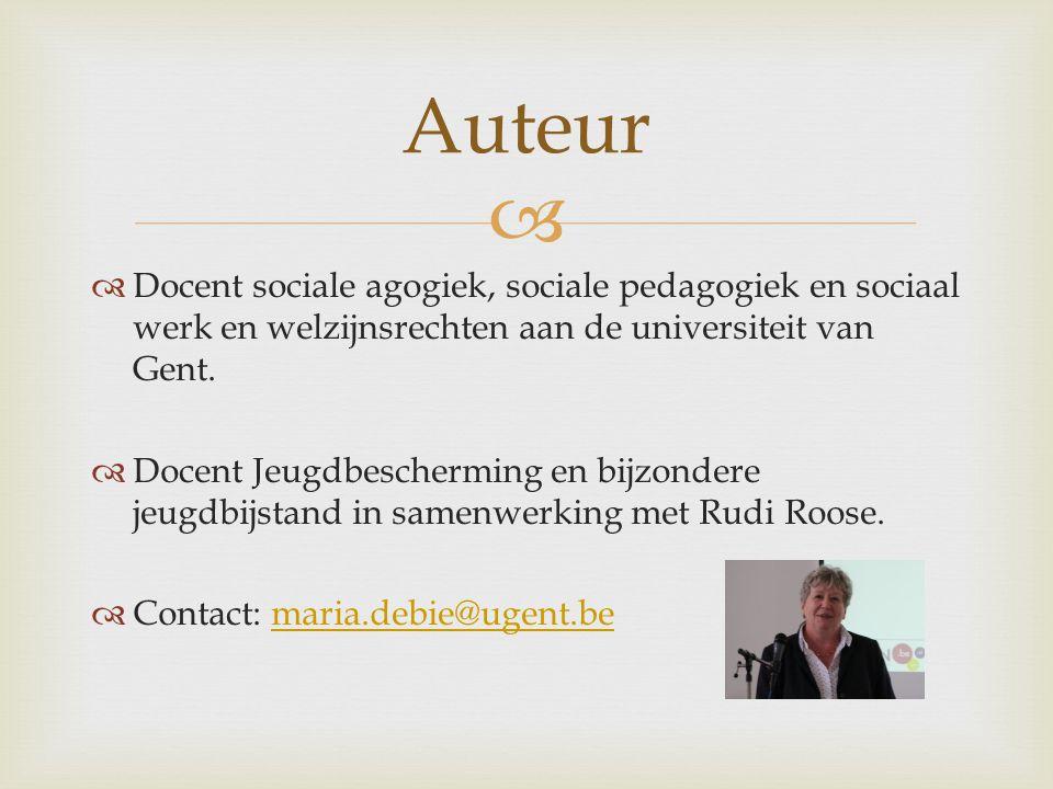   Docent sociale agogiek, sociale pedagogiek en sociaal werk en welzijnsrechten aan de universiteit van Gent.  Docent Jeugdbescherming en bijzonder