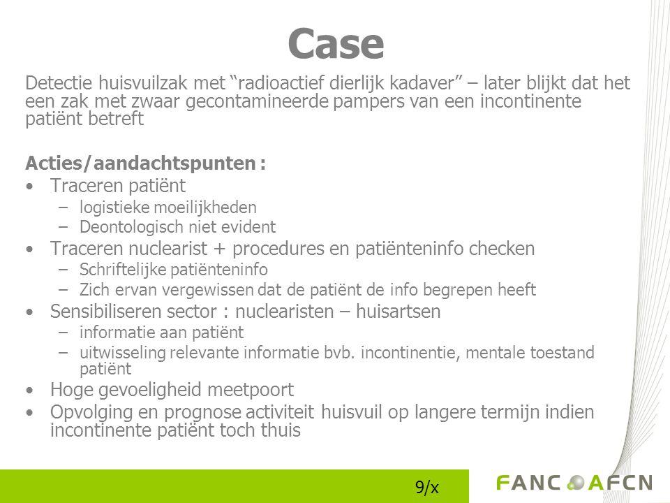 Informeren van de patiënt (1) Reglementaire verplichting voor de nuclearist !!.