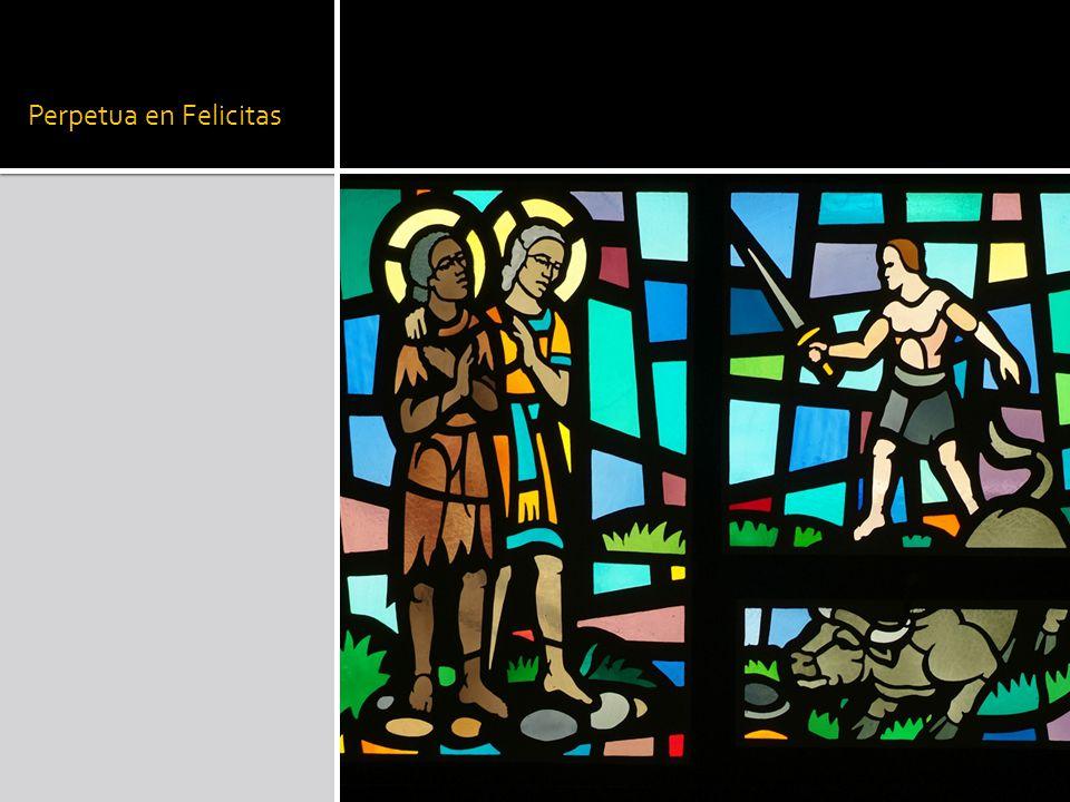  Liturgische context en leerstellig dispuut  Preken 280, 281, 282:  In het kader van de ruimere heilsgeschiedenis van Eva tot Maria  Grotere verworvenheid want fysiek zwakker  Perpetua felicitas of eeuwige gelukzaligheid