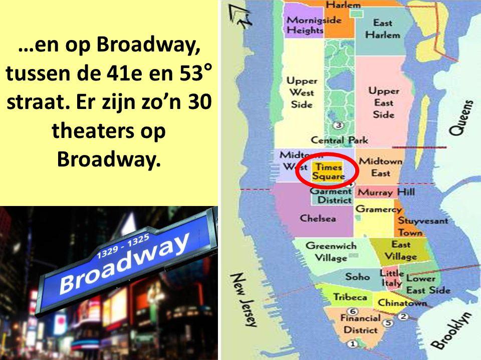 De meeste New Yorkse theaters bevinden zich bij Times Square…