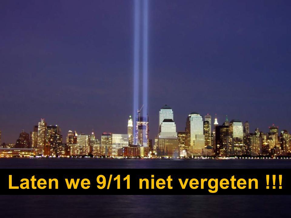 Maar op 11 september 2001, (9/11) voor de Amerikanen, lieten radicale moslims twee vliegtuigen tegen de torens te pletter vliegen.