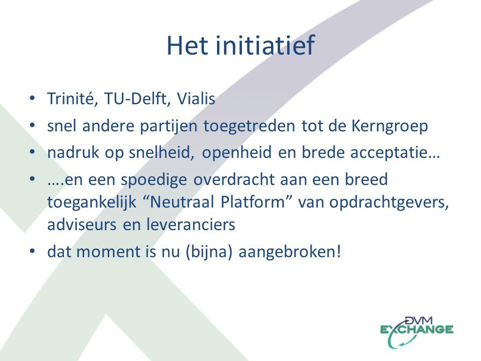 Het initiatief Trinité, TU-Delft, Vialis snel andere partijen toegetreden tot de Kerngroep nadruk op snelheid, openheid en brede acceptatie… ….en een