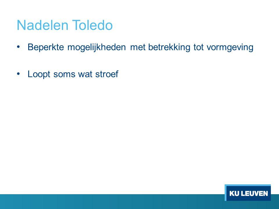 Doel van het project 1.Migreren van de bestaande tutorials naar Toledo 2.