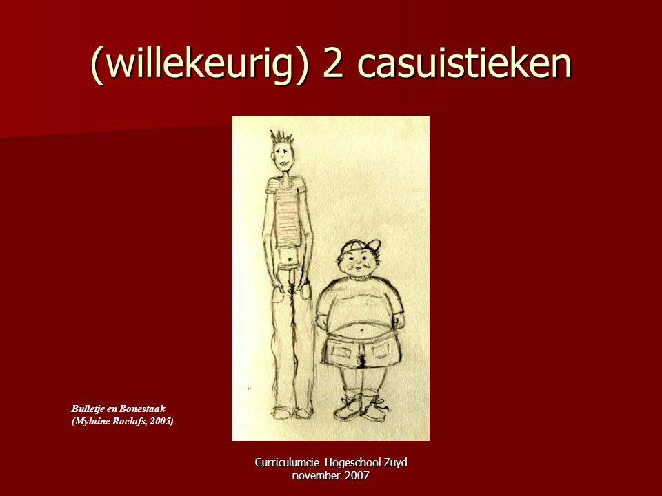 Curriculumcie Hogeschool Zuyd november 2007 (willekeurig) 2 casuistieken Bulletje en Bonestaak (Mylaine Roelofs, 2005)