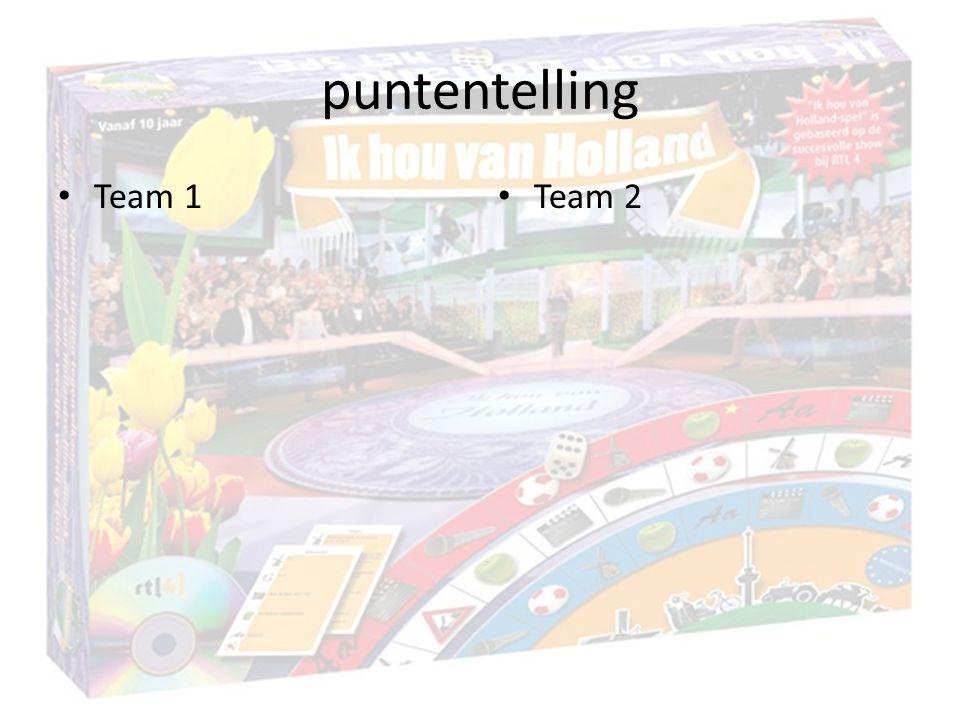 puntentelling Team 1 Team 2