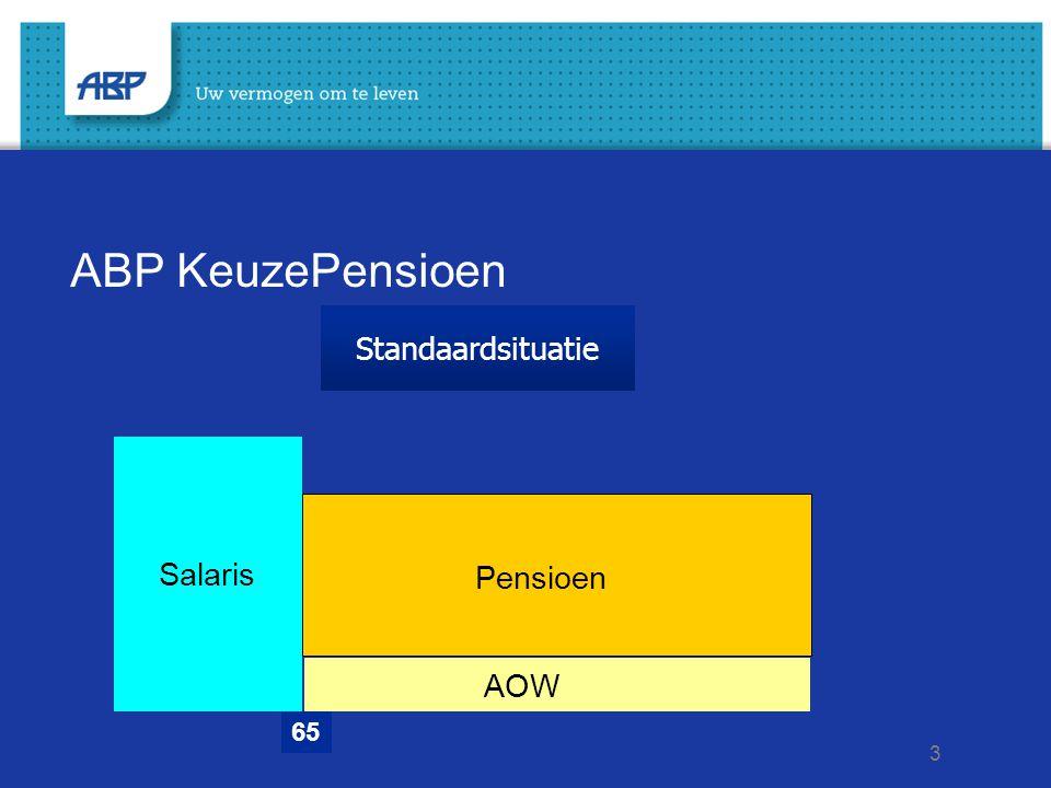 4 ABP KeuzePensioen In één keer stoppen bij 63 jaar 6563 Salaris AOW Pensioen