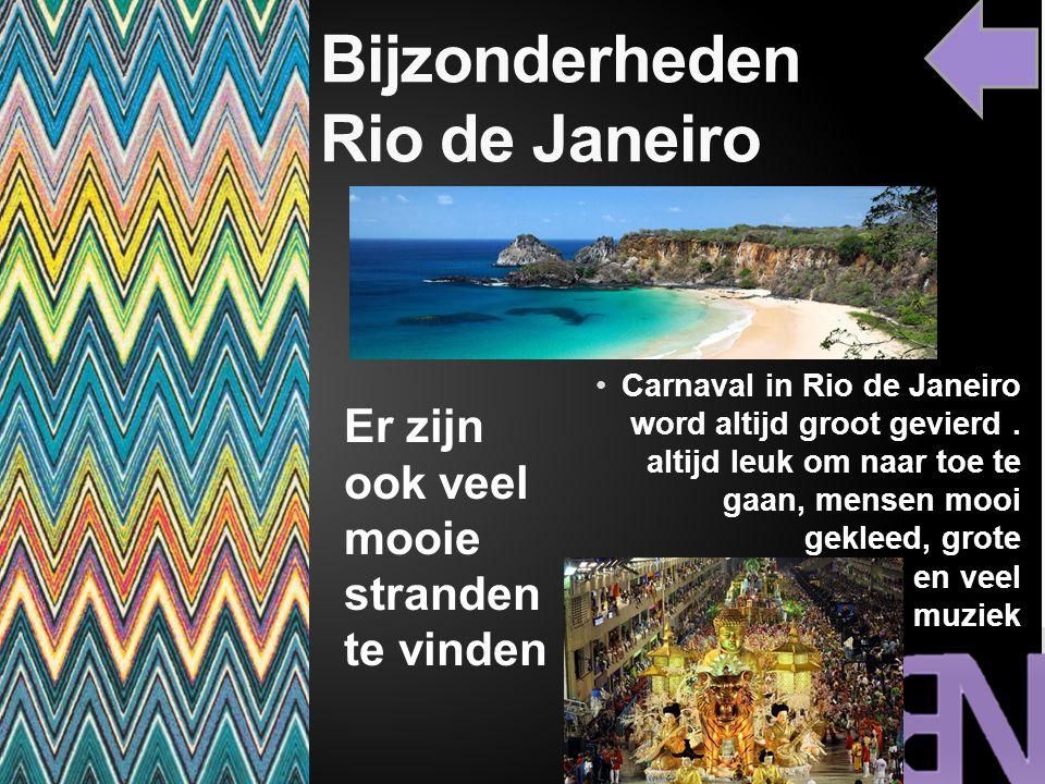 Bijzonderheden Rio de Janeiro Carnaval in Rio de Janeiro word altijd groot gevierd. altijd leuk om naar toe te gaan, mensen mooi gekleed, grote praalw