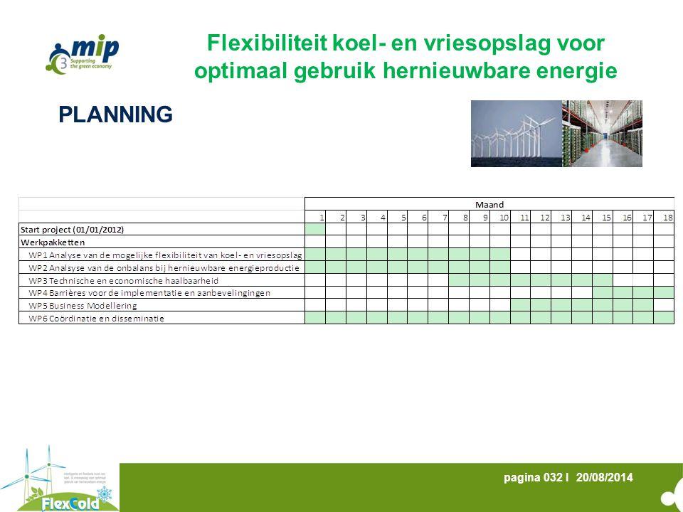 20/08/2014pagina 032 I PLANNING Flexibiliteit koel- en vriesopslag voor optimaal gebruik hernieuwbare energie