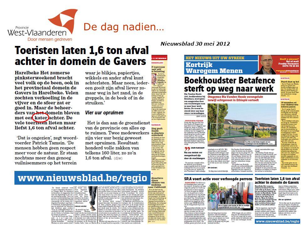 De dag nadien… Nieuwsblad 30 mei 2012
