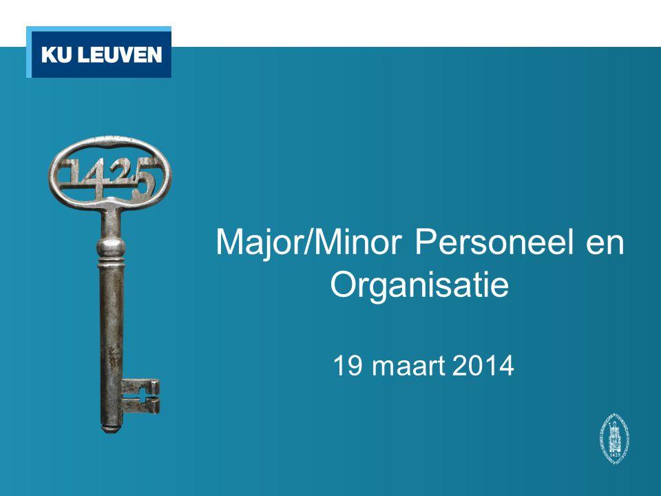 Major/Minor Personeel en Organisatie 19 maart 2014