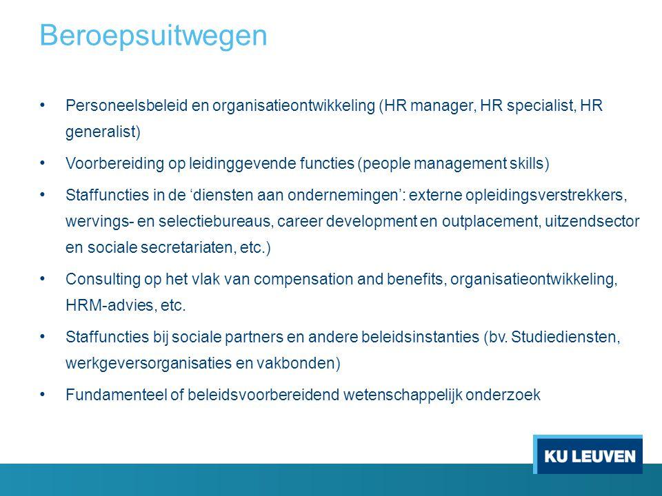 Major Personeel en Organisatie in master TEW (24 sp) o Management van personeelsstromen (6 sp) o Sociaal Verantwoord Ondernemen (6 sp) o Organisatieontwerp (6 sp) o Arbeidsrecht en onderneming (6 sp) Minor Personeel en Organisatie in master TEW (12 sp) o Opleidingsonderdelen major Personeel en Organisatie o Performance Management (6 sp) o Organizing in an International Context (6 sp) Minor Personnel and Organization – MBE (12 sp) o Performance Management (6 sp) o Organizing in an International Context (6 sp) Opleidingsonderdelen master TEW/ MBE