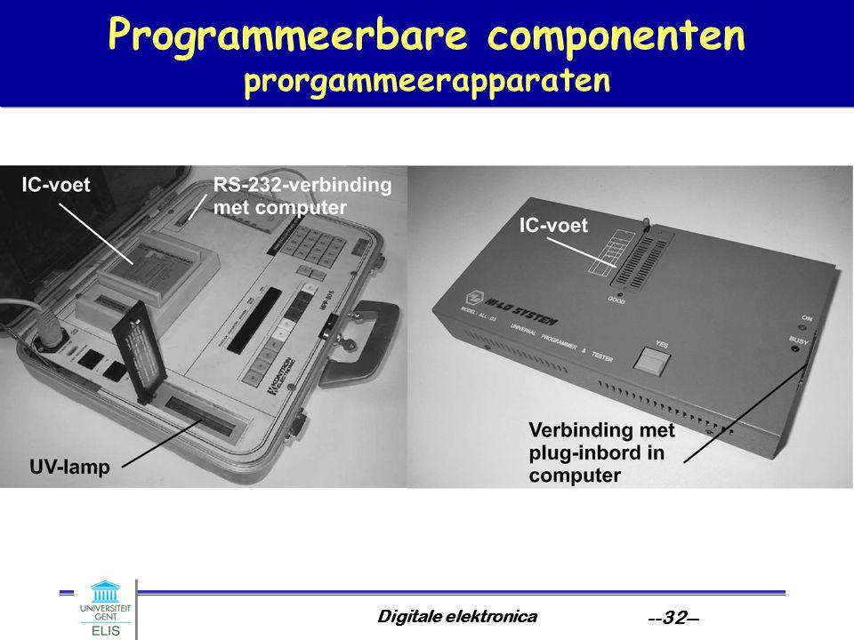 Digitale elektronica --32-- Programmeerbare componenten prorgammeerapparaten