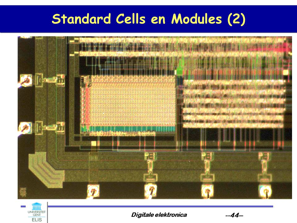 Digitale elektronica --44-- Standard Cells en Modules (2)
